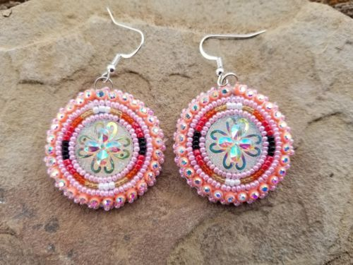 6e58a25e5 Earrings 98497: Native American Beaded Earrings Powwow Style -> BUY IT NOW  ONLY: $22.95 on eBay!