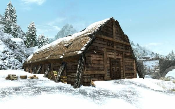 A Nordic Themed Player Home Near Windhelm Simple Yet Cozy For A Nord Warrior Skyrim Mods Vikings Skyrim