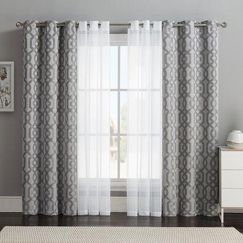 Victoria Classics 4 Pc Barcelona Double Layer Curtain Set