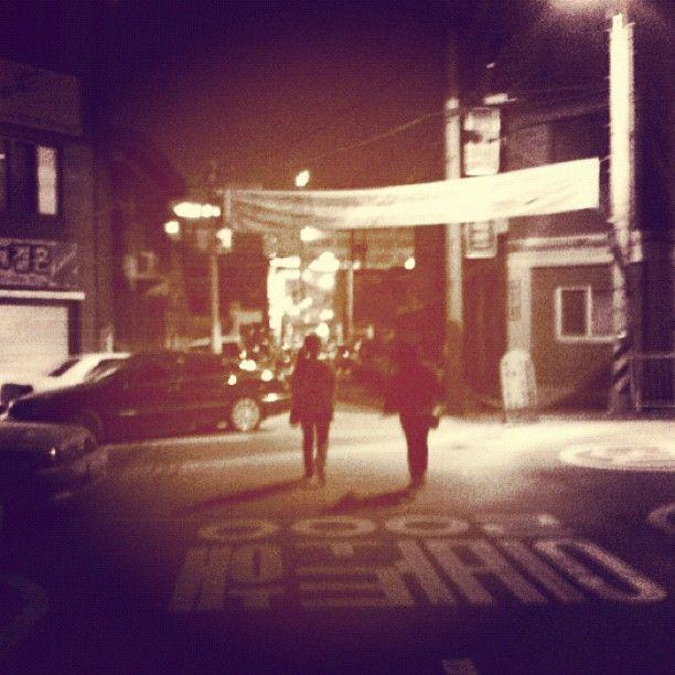 brownbroccoli / 일방통행/One-Way. #korea #anseong #street #way #night #무상 #안성 #hknu / 경기 안성 / 2012 02 15 /