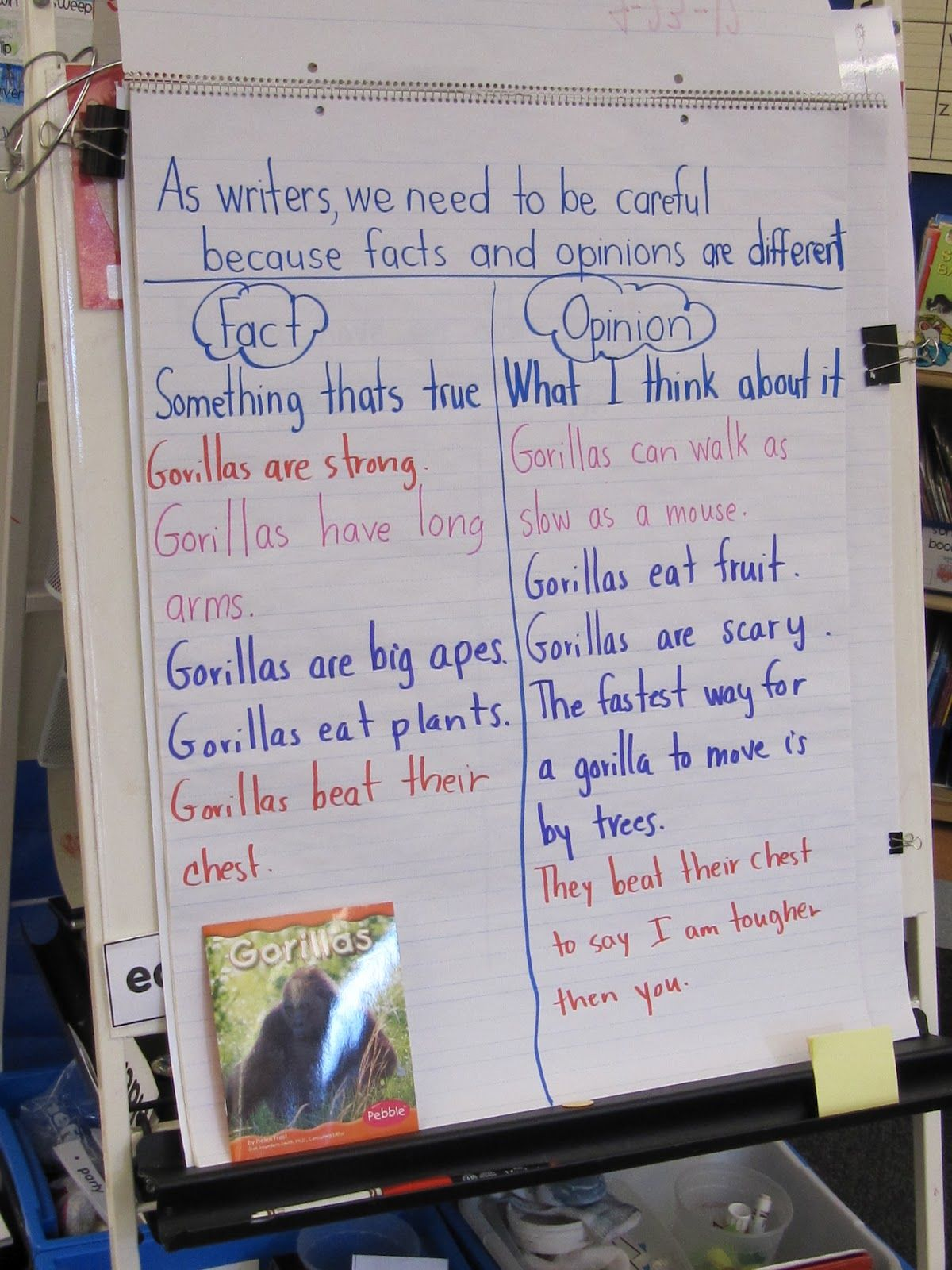 Joyful Learning In Kc Facts And Opinions Chart