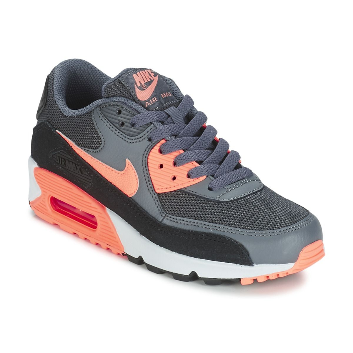 nike air max 90 essential grise rose baskets/running femme nike