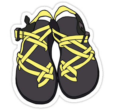 ddbee3ba5450 Chacos Sandals Yellow  Sticker by tlaprise in 2019