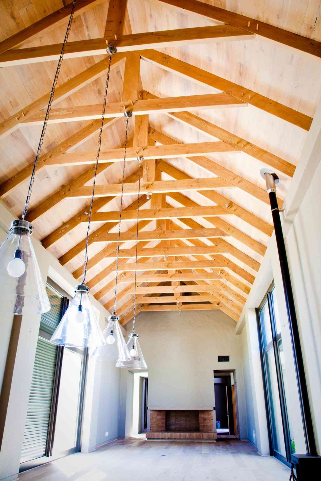 Exposed Roofing Exposed Rafters Modern Home Interior Design Contemporary House Design