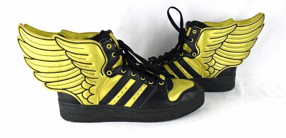 f38778706e19ee RARE! JEREMY SCOTT X ADIDAS JS WINGS 2.0 Metallic Gold Black Shoes 10.5  12 10  adidas  Walking