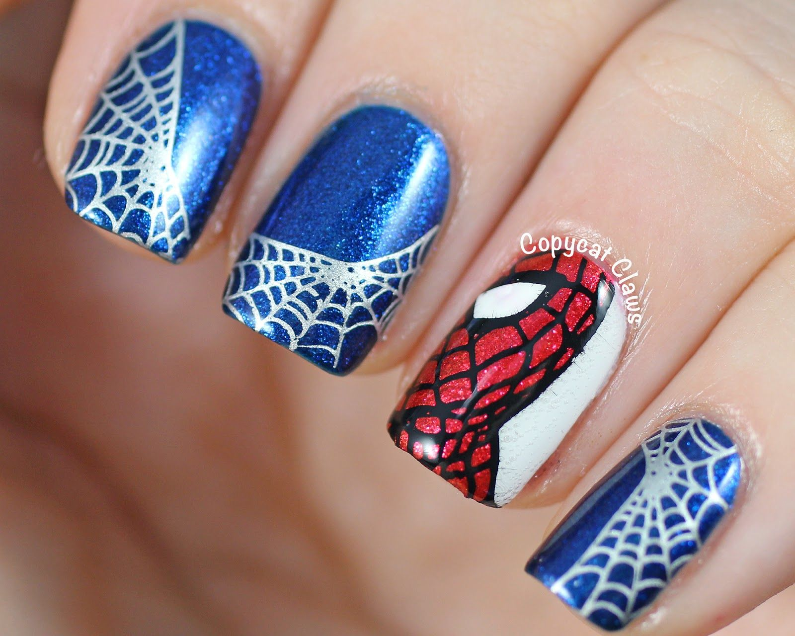 Copycat claws spider man nail nails nailart expensive nails copycat claws spider man nail nails nailart prinsesfo Choice Image