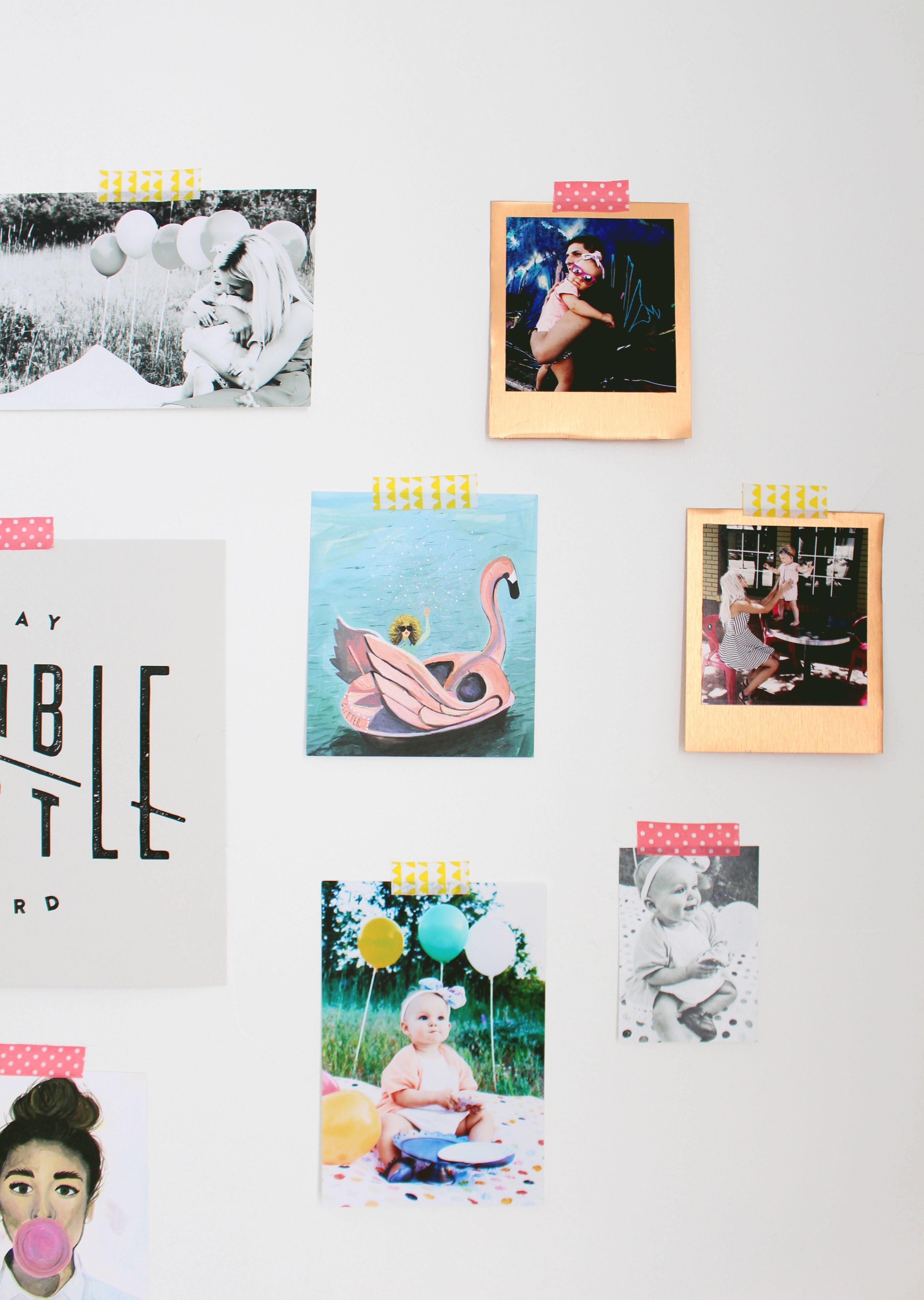 DIY Metallic Polaroid Frames | Polaroid frame, Polaroid and Metallic