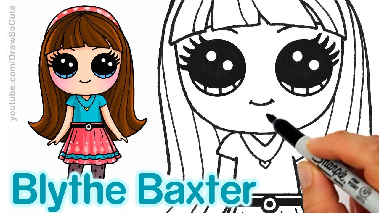 How To Draw Blythe Baxter Step By Step Cute And Easy Littlest Pet Shop