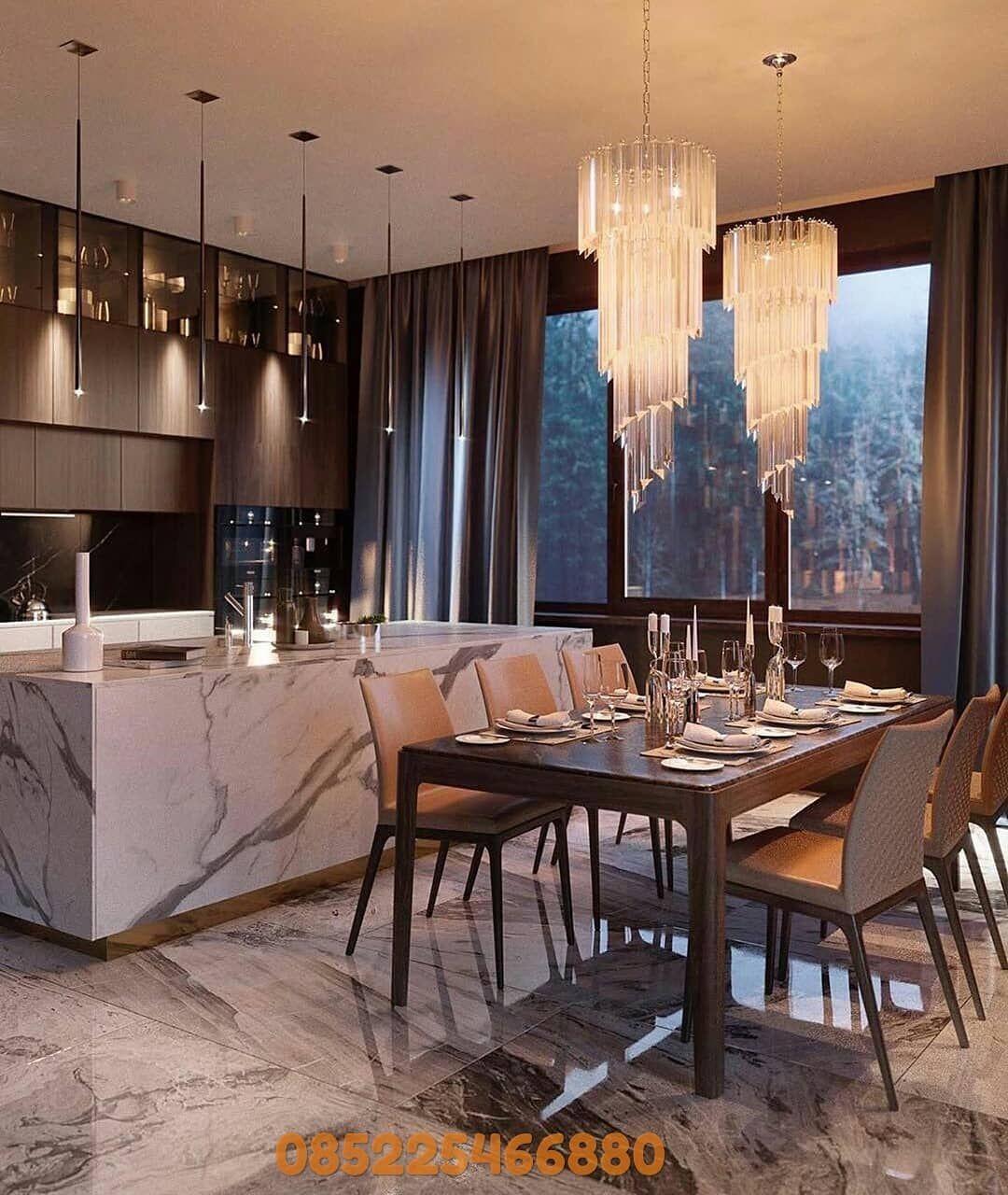 Info Dan Pemesanan Hubungi Wa 085225466880 Kursimakan Settamu Furnituresurabaya Setmakanmura Luxury Home Decor Luxury Kitchen Design Modern Kitchen Design