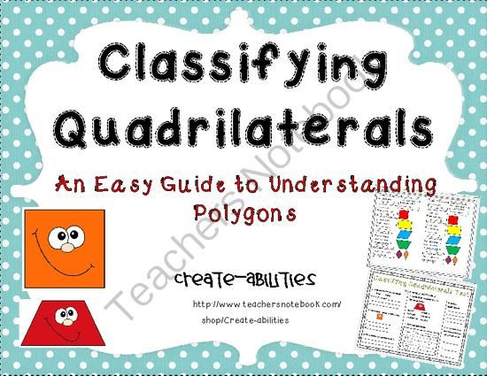 Classifying Quadrilaterals Venn Diagram Ccss G1 And G2 From