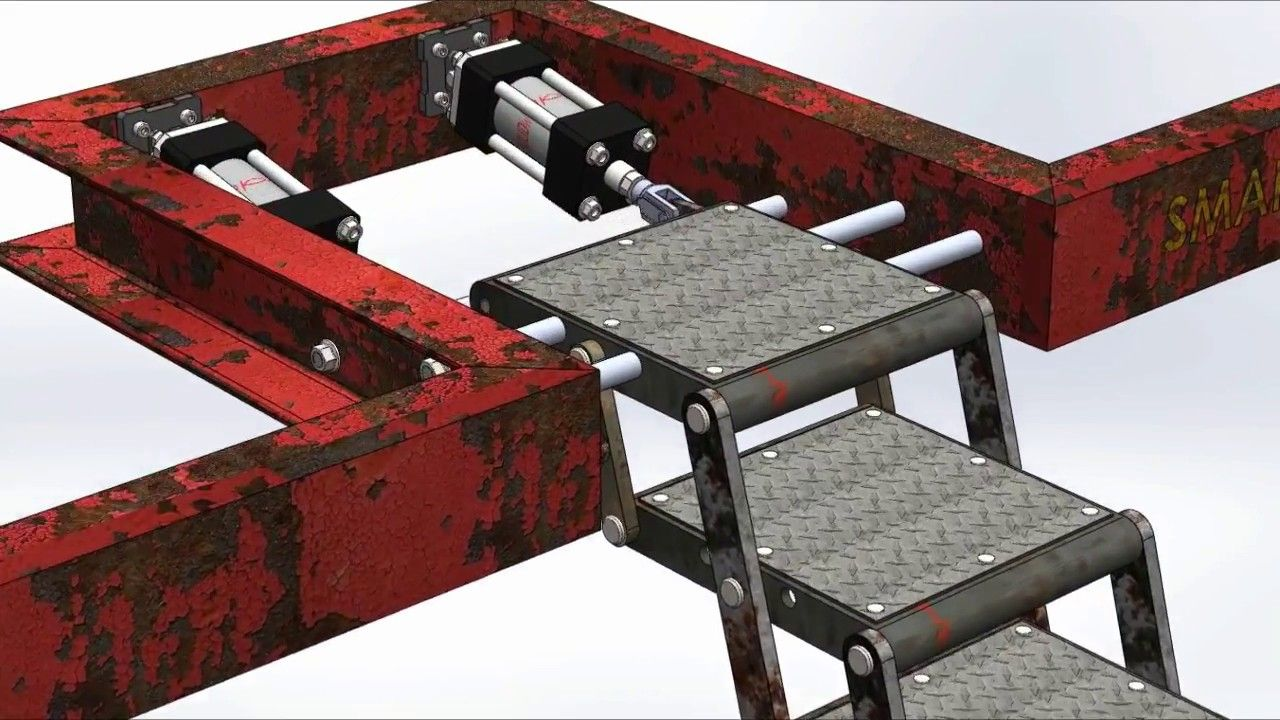 Foldable Stair Mechanism Treppe Bauen Metalltreppe Design
