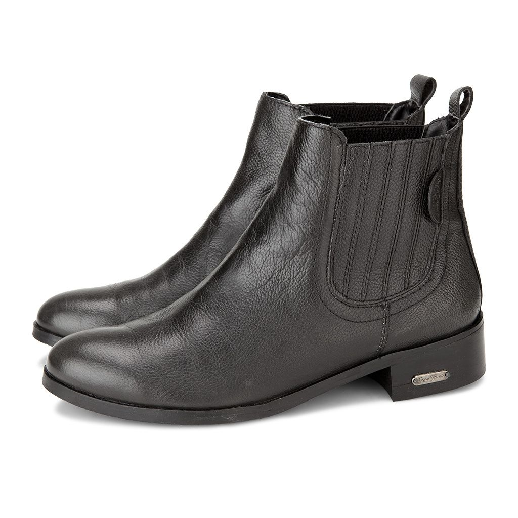 Branpl Newcollection Autumnwinter14 Fallwinter14 Onlinestore Online Store Shoes Pepejeans Blacj Blackshoes Chelsea Cowleat Boots Shoes Black Shoes