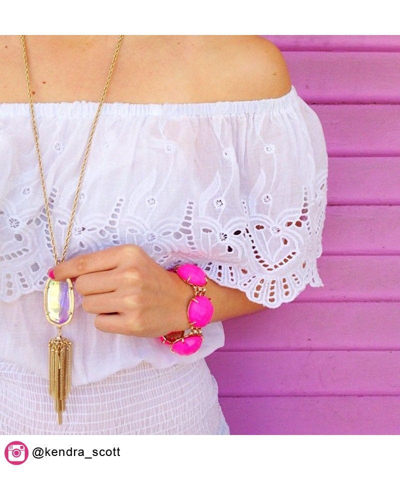 Cassie Bracelet in Neon Pink - Kendra Scott Jewelry