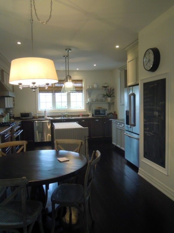 Lighting Over Kitchen Table Using Pendant Lamp Shade Kit