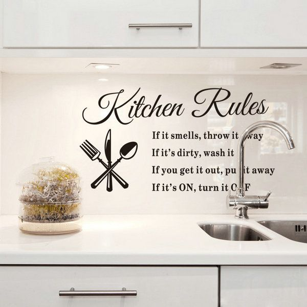 office kitchen rules - google search | dirty dishes | pinterest ... - Wall Stickers Cucina