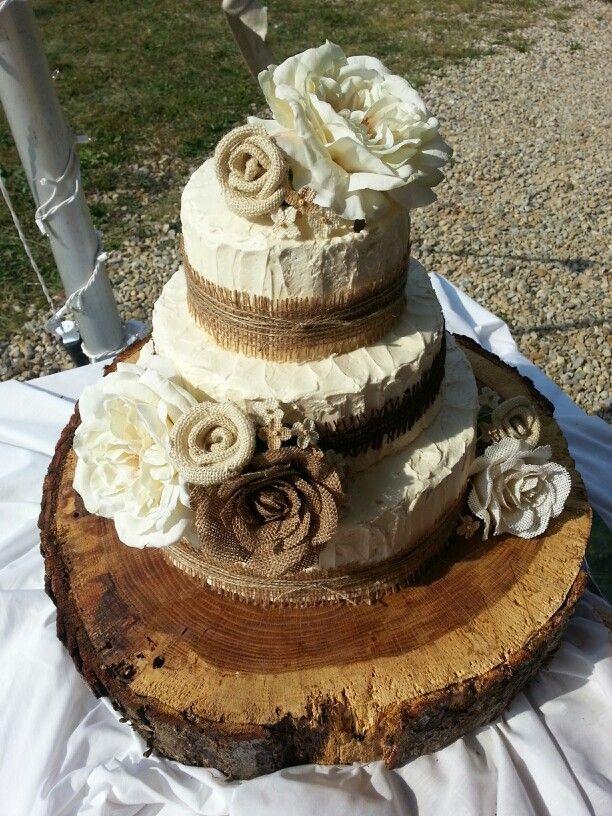 Beautiful Rustic Theme Wedding Cake Wedding Themed