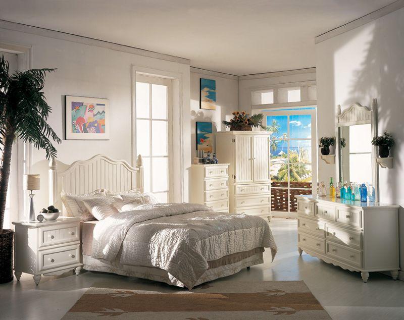 St Maarten white wicker bedroom furniture by Seawinds Trading ...
