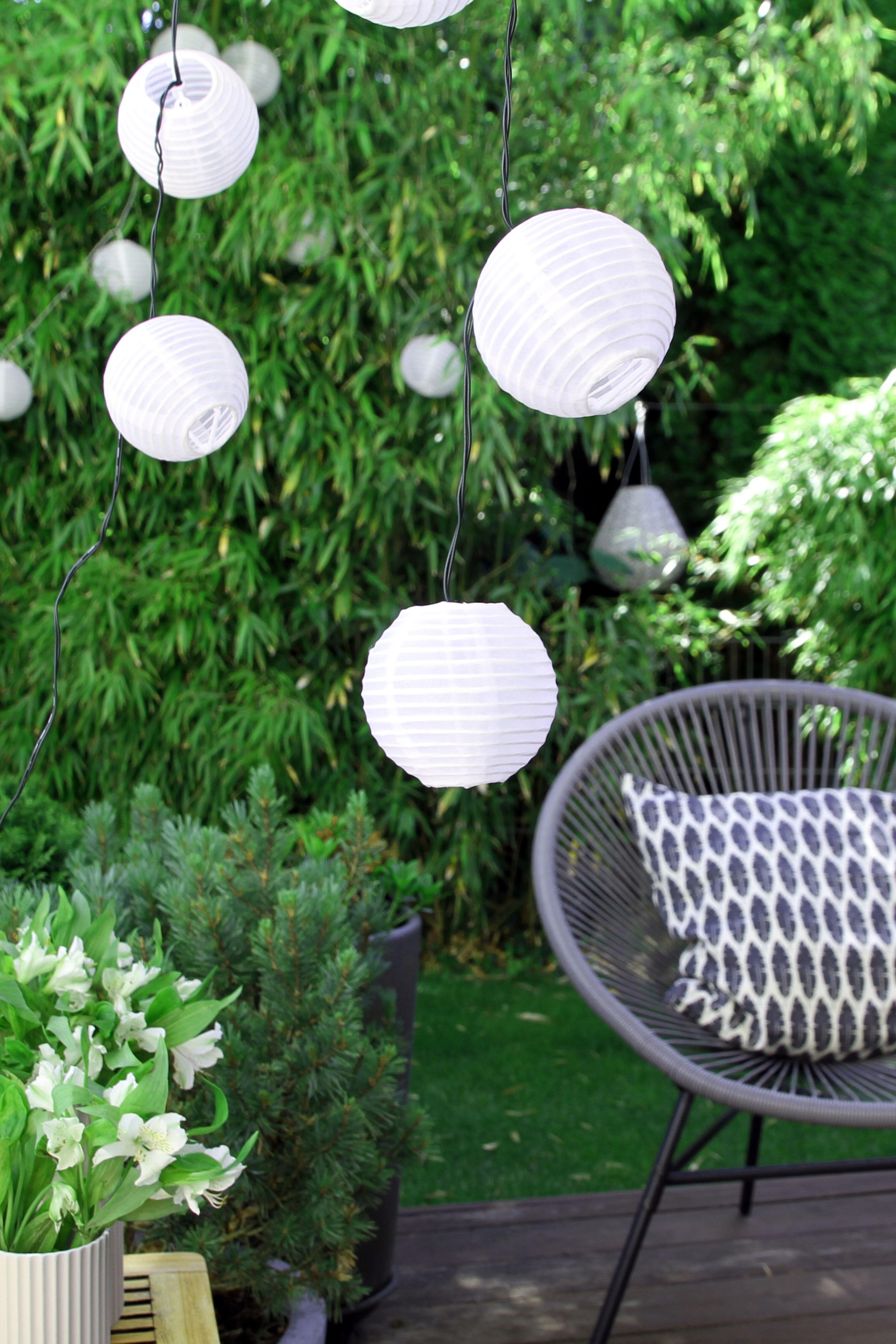 Endlich Sonne Endlich Raus In Den Garten Solar Lichterkette Lichterkette Aussen Balkon Beleuchtung