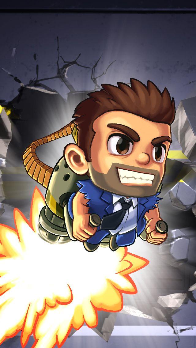 Estilo De Ilustracion Jetpack Joyride Jetpack Cartoon