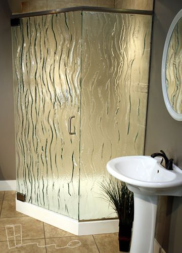 Glass Shower Door Options | lava pattern | beach house | Pinterest ...