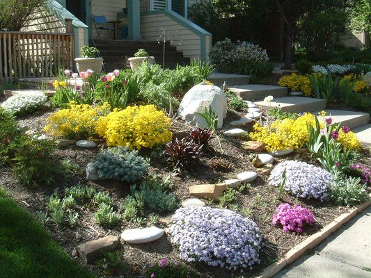 Xeriscaping front yards in colorado xeriscape slope for Garden design xeriscape