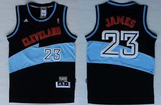155b5dc05 ... Cleveland Cavaliers 23 LeBron James ABA Hardwood Classic Swingman Black  Jersey ...