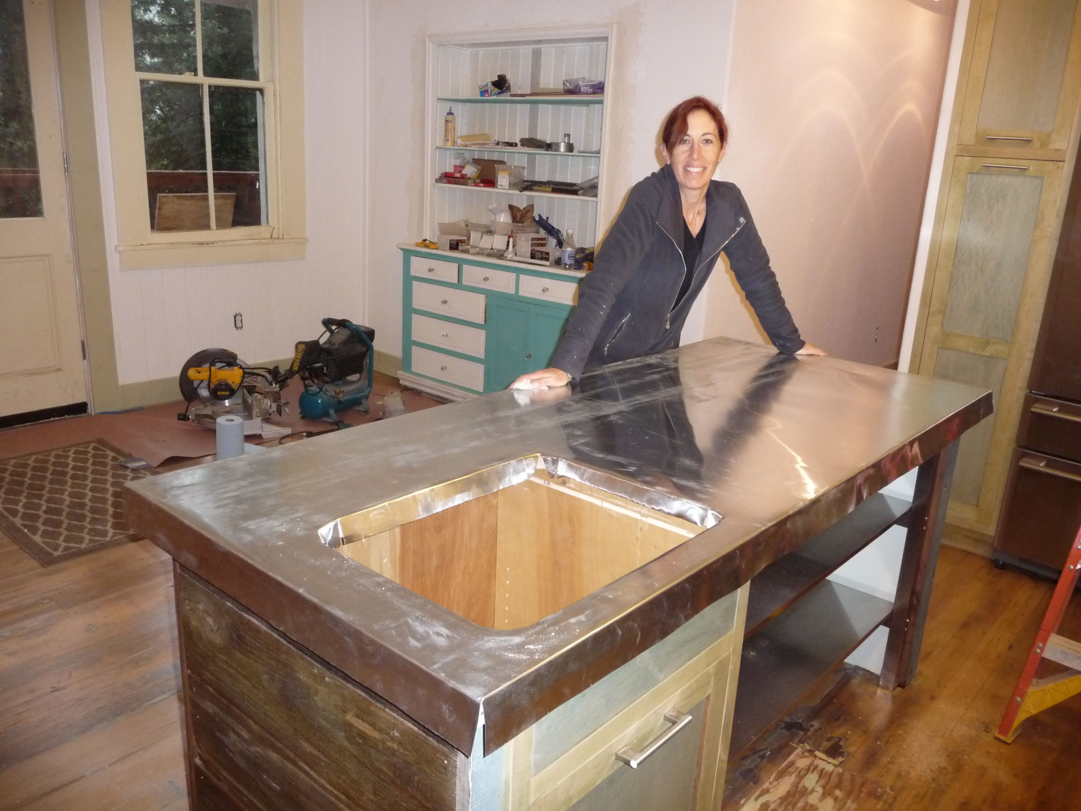 How To Make A Zinc Island Counter