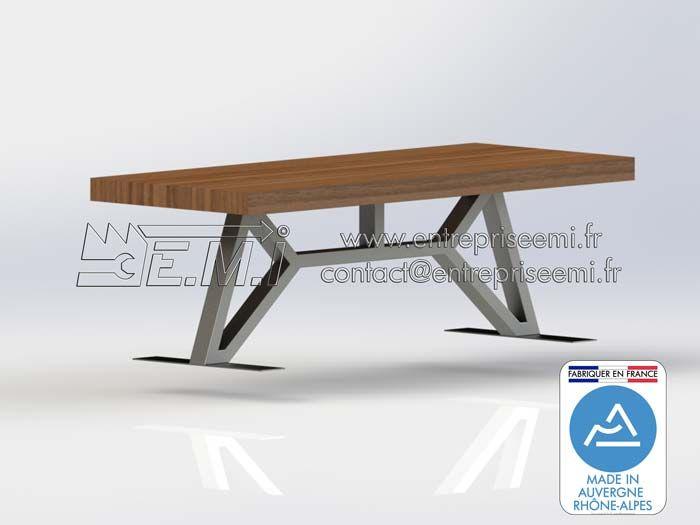 Pied De Table Viaduc Design Acier Ou Inox Sur Mesure