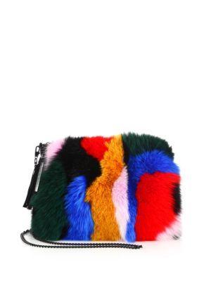 LOEFFLER RANDALL Multicolor Fox Fur   Suede Tassel Pouch.  loefflerrandall   bags  fur 4ffe7e60145db