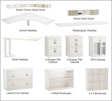 Build Your Own Bedford Home Office Modular Components Home