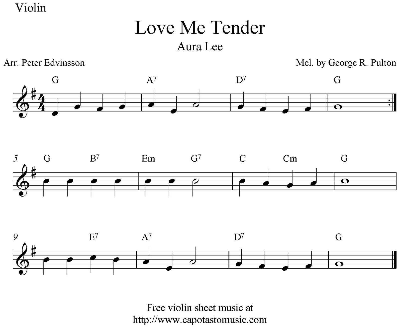 Sheet Music Violin Love Me Tender Aura Lee Free Violin Sheet Music Notes Sheet Music Violin Sheet Music Violin Sheet