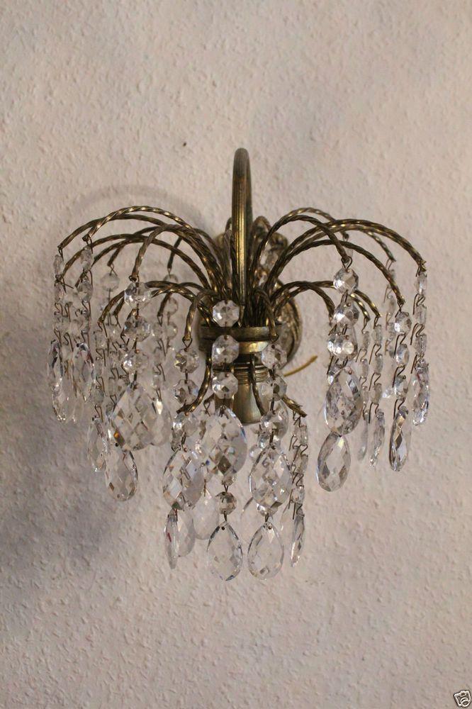 Antike Kristall Wandlampe Kronleuchter Wall Sconce Vintage Antique Old Er Http Www Royalleuchten De Pinterest Sconces And