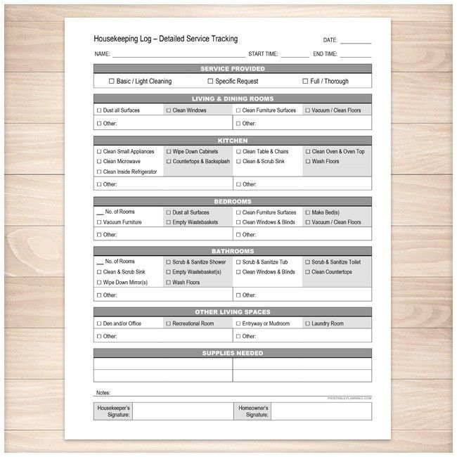 Housekeeping log detailed cleaning service tracking printable housekeeping log detailed cleaning service tracking printable thecheapjerseys Images