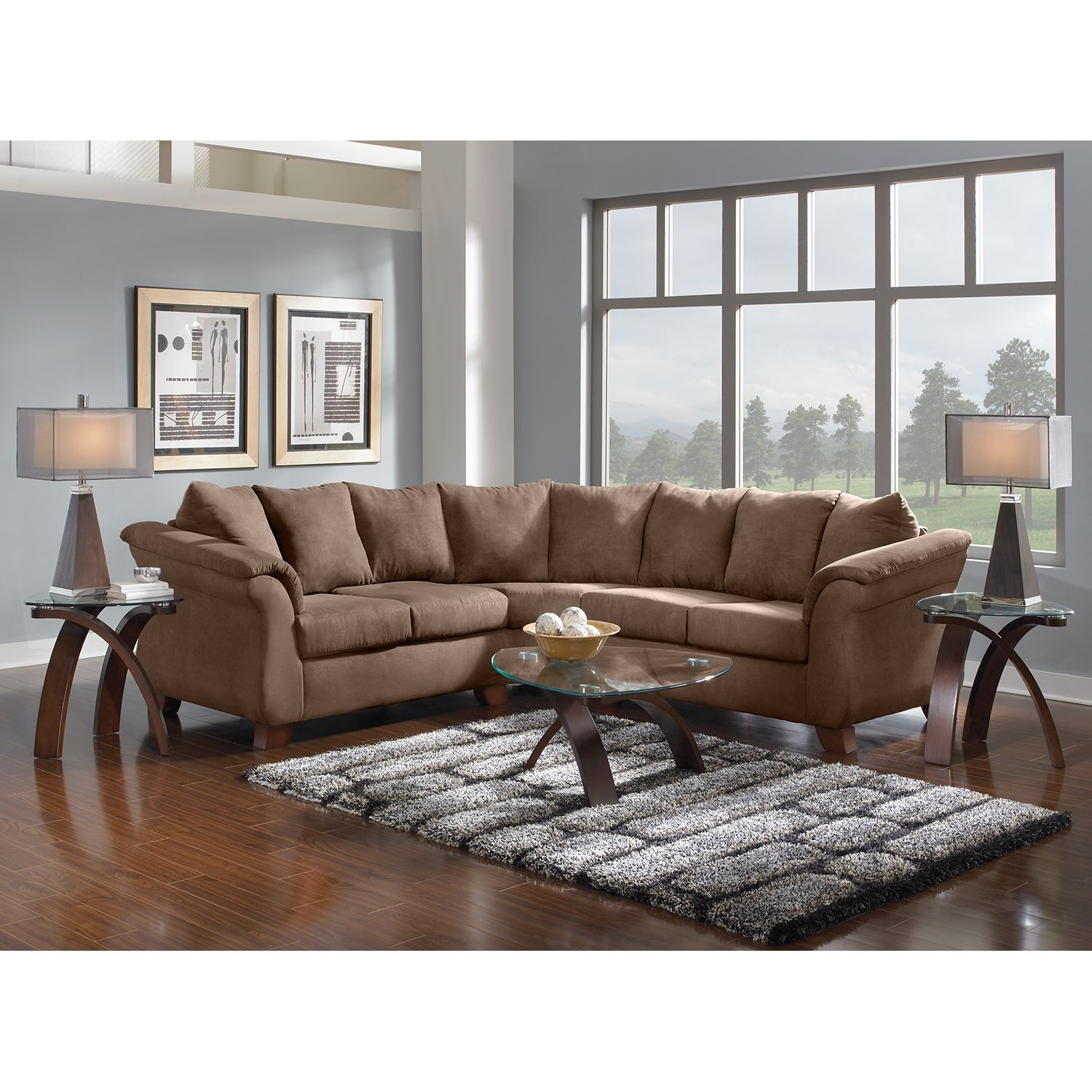 Adrian 2 Piece Sectional Taupe