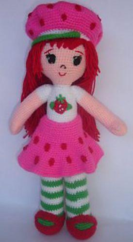 Crochet Strawberry Shortcake Doll Knit And Crochet Pinterest