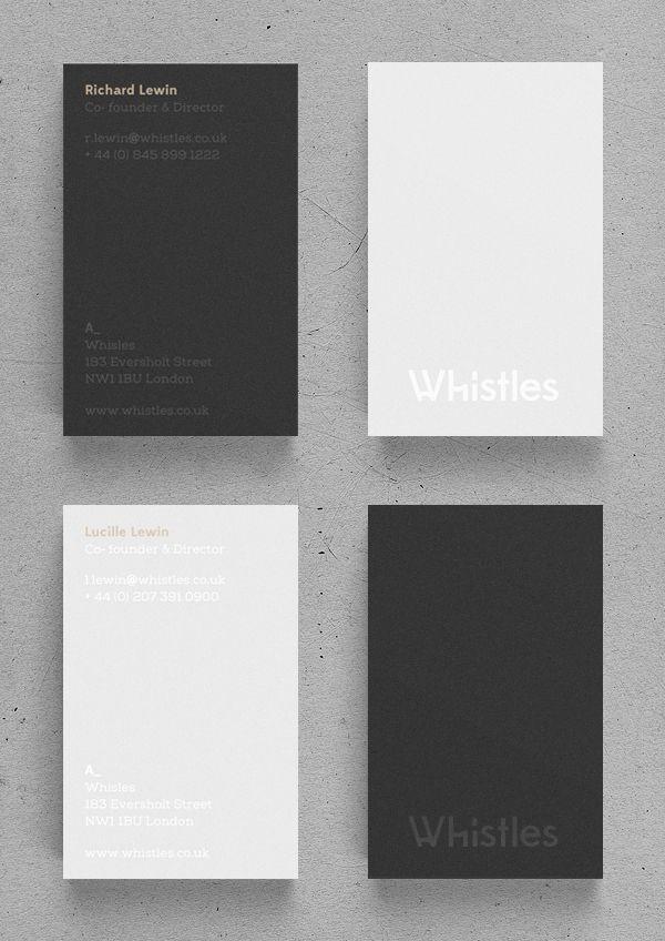 Whistles By Mark Niemeijer Via Behance Name Cards