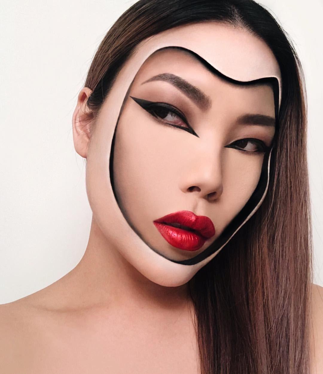 A Few Of The Makeup Illusion Pieces That I Ve Done Lately 10 Days Till The Mimlesoriginals Makeup Contest Ends Crazy Makeup Retro Makeup Face Art Makeup