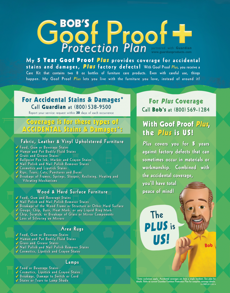 Goof Proof Protection Plan : proof, protection, Proof, Bob's, Discount, Furniture, Furniture,, Protection, Plans,