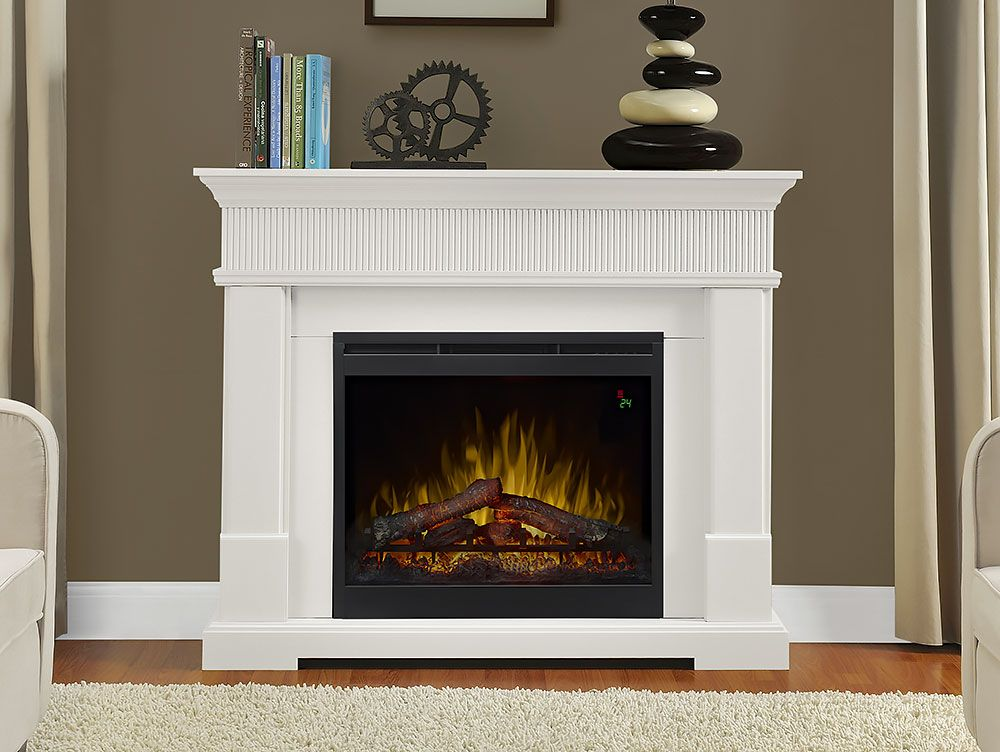 Jean Electric Fireplace Mantel Package In White Gds26l5 1802w