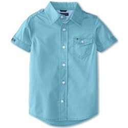 Tommy Hilfiger Kids - Parsons S/S Solid Woven (Toddler/Little Kids) (Seren Blue) - Apparel - product - Product Review