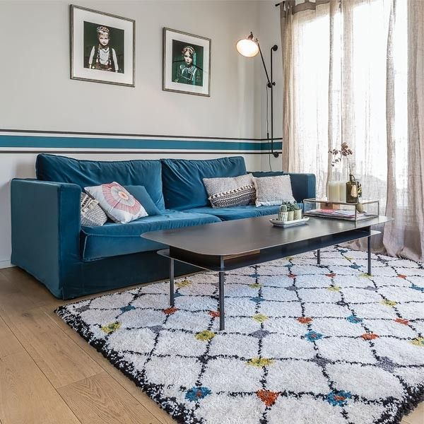tapis berb re moderne blanc kaboshon par edito salons. Black Bedroom Furniture Sets. Home Design Ideas