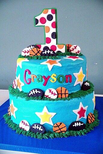 All Star Sports Birthday Cake Cakes I Made Myself Pinterest - All star birthday cake