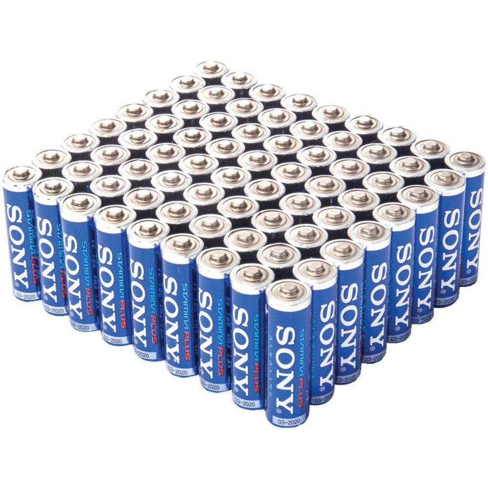 Sony Stamina Plus Alkaline Bulk Batteries Aa Long Lasting Premium Alkaline For High Drain Devices All Everyday Alkaline Battery Batteries Aaa Batteries