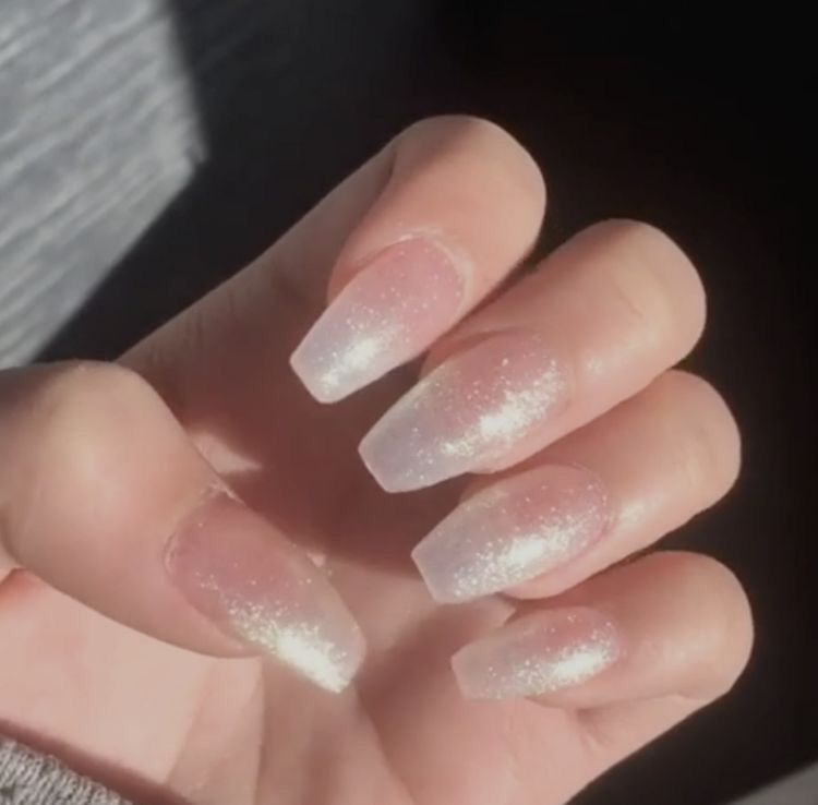 P I N T E R E S T Kyleighrreese Cute Acrylic Nails Sparkly Nails Transparent Nails