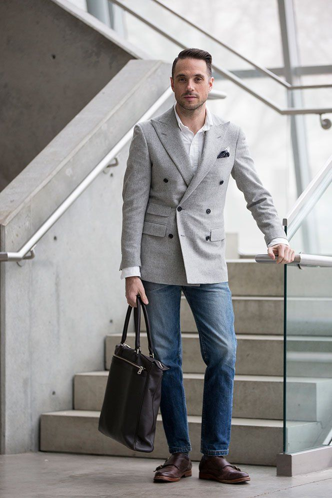 Dress It Down: Double-Breasted Blazer | Style | Pinterest ...