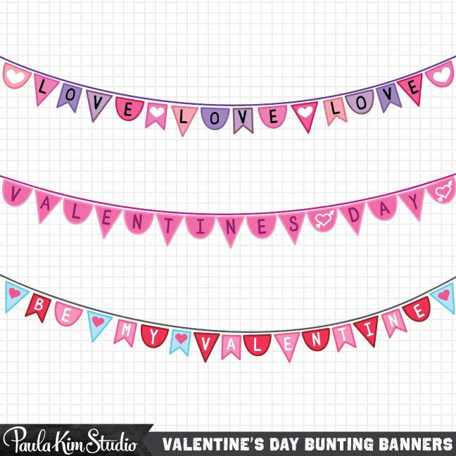 Valentines Day Banner Clipart Free