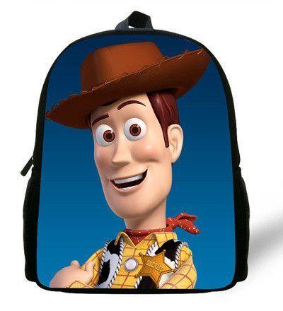 d75302e260 12-inch Mochila School Kids Backpack Toy Story School Bags For Boys Cartoon  Woody Roundup