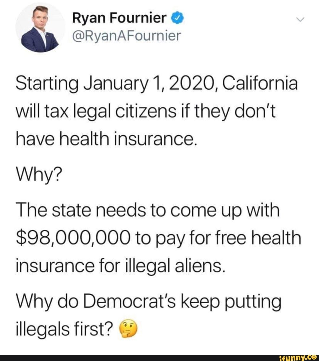 Starting January 1 2020 California Will Tax Legal Citizens If