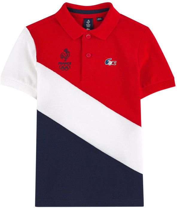 7ff0dca2f2 Olympic Games polo - France Lacoste for boys | Melijoe.com ...