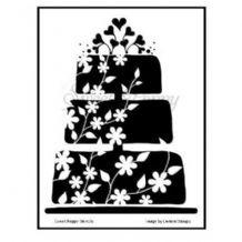 Sweet Poppy Stencil: Cake